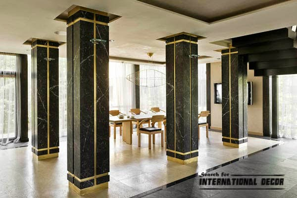Wooden Pillars Designs : Decorative columns stylish element in modern interior