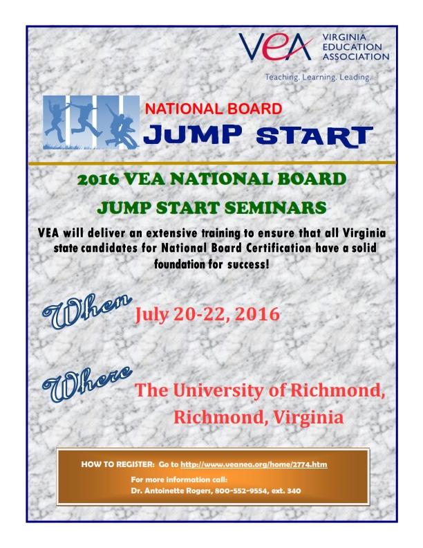 Spotsylvania Education Association Jump Start Your Way To National