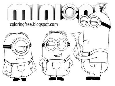 Top cartoon images to color Minion logo drawing Minions black and white coloring pages for teenagers