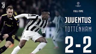 Juventus vs Tottenham Hotspur 2-2 Video Gol Highlights