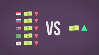 Dolar menguat, mata uang global anjlok