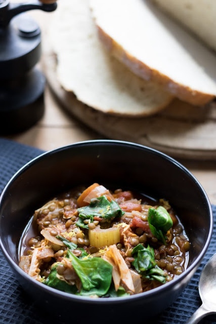 Vegan Slow Cooker Lentil Stew with Harissa