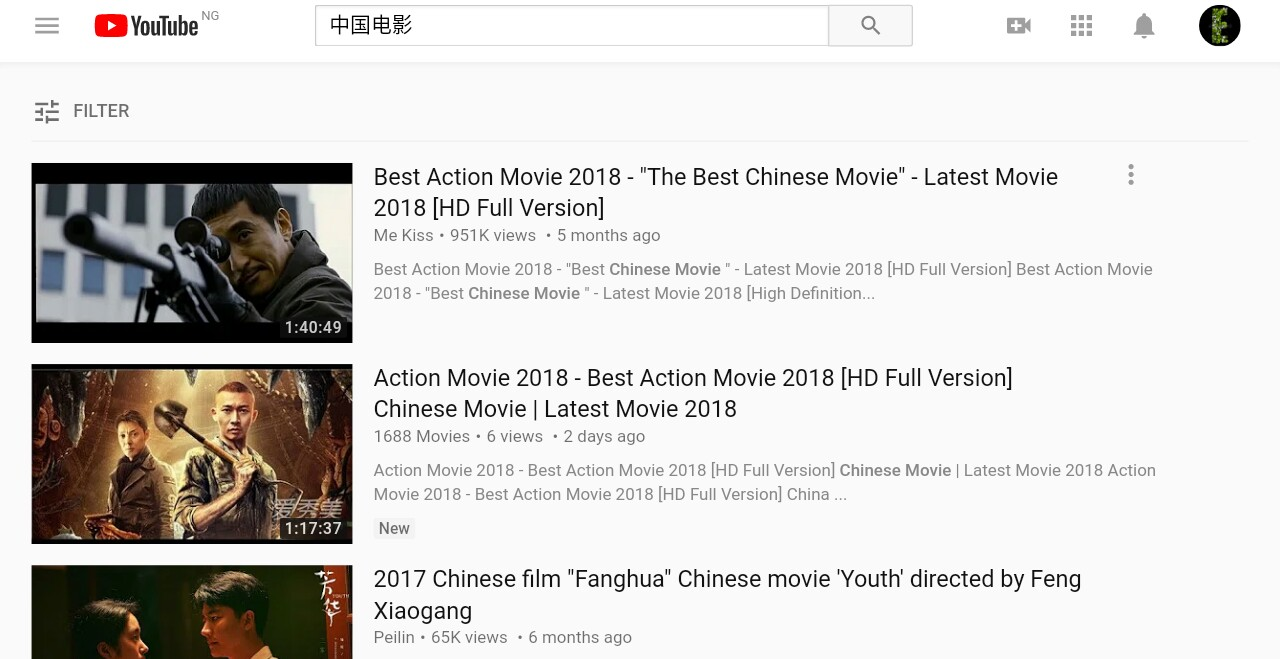 Top chinese movies 2018