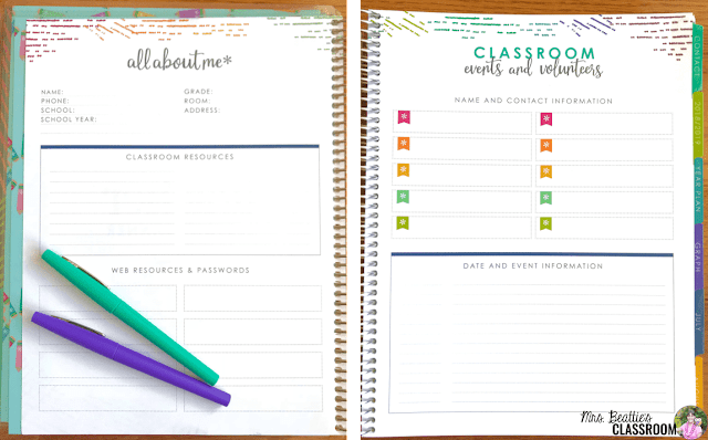 Photo of Erin Condren Teacher Planner inside pages