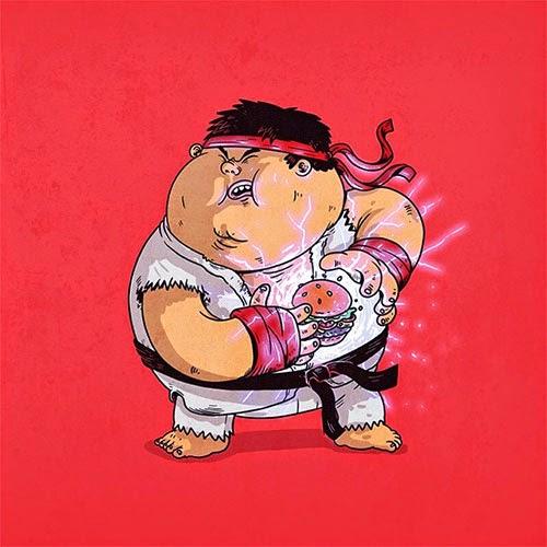 Fat Super Hero Gemuk - Street Fighter Ryu