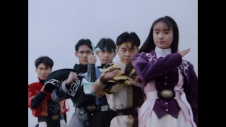 The main cast of Kyōryū Sentai Zyuranger