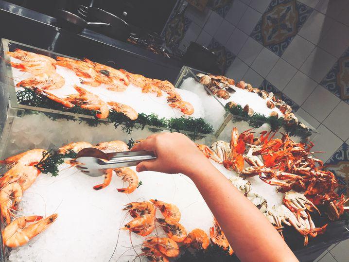 Fresh seafood station at Dusit Thani Manila's The Pantry