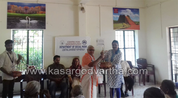 News, Kasaragod, Kerala, Students, Inauguration, Program,Old age home,Central university students conduct program at old age home