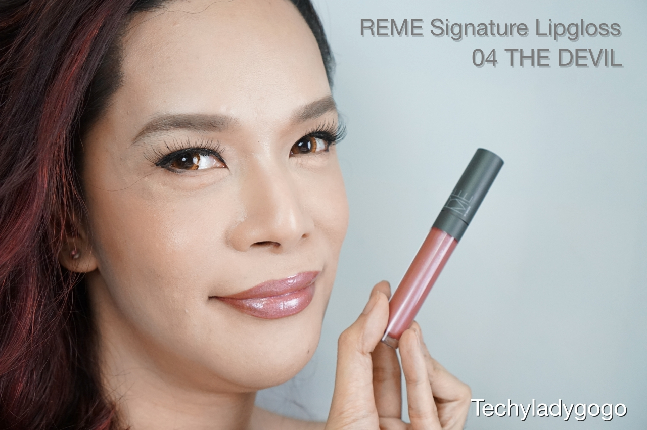 Techyladygogo ทา Reme Signature Lipgloss สี 04 The Devils