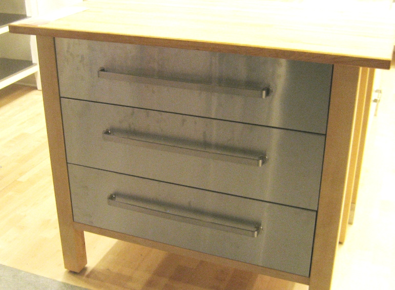 Butcher Block Top W/Stainless L.A. Is My Beat: Face