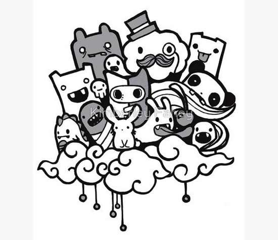 Gambar 40 Contoh Gambar Doodle Art Simple Keren Mudah