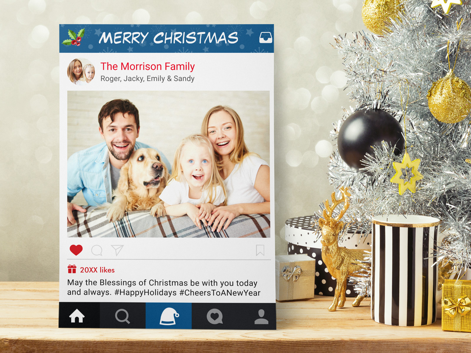 Trendy instagram frame christmas photo cards mimoprints trendy instagram frame christmas photo cards kristyandbryce Images