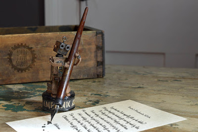Handmade tiny robots - Robin Davis Studio