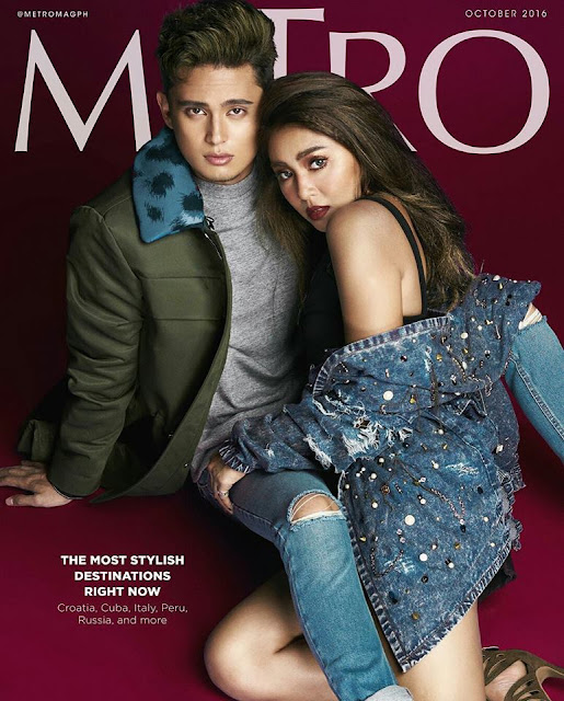 Nadine Lustre and James Reid Metro October 2016 Issue