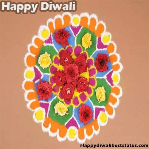 Small Rangoli Design With Flowers