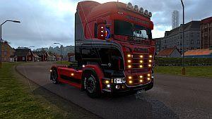 Red & Black RJL skin for Scania RJL