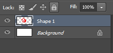 Select the layer in Photoshop.