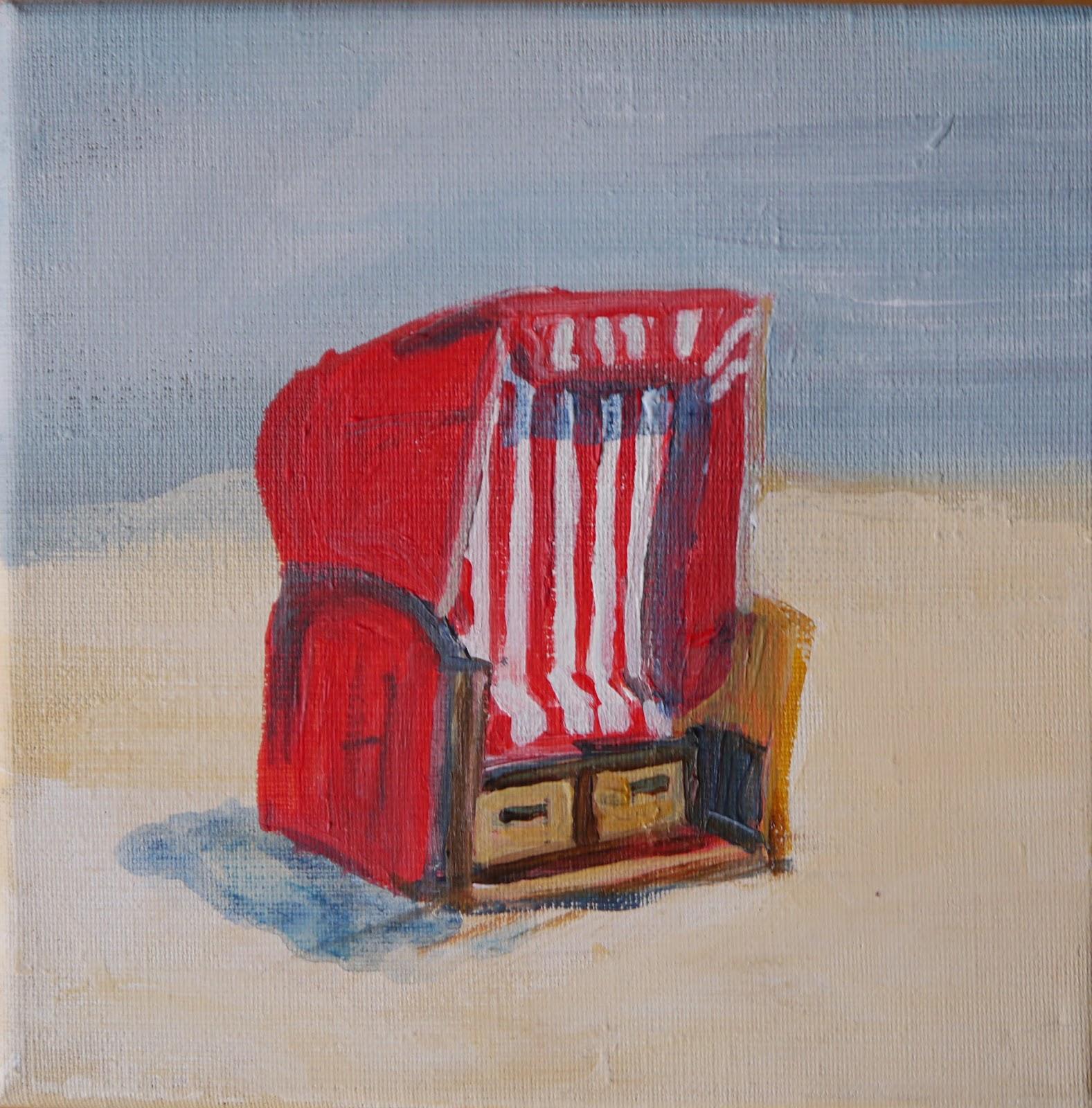 Strandkorb gemalt  Maritime Kunst | Atelier Malerei | Art of Sailing .... Meer als ...