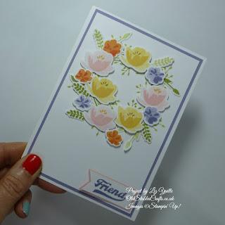 Jar of Love Floral Wreath Friend Card