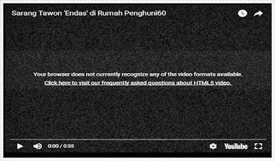 Solusi Video Youtube Tidak Tampil di Browser Terkait HTML5