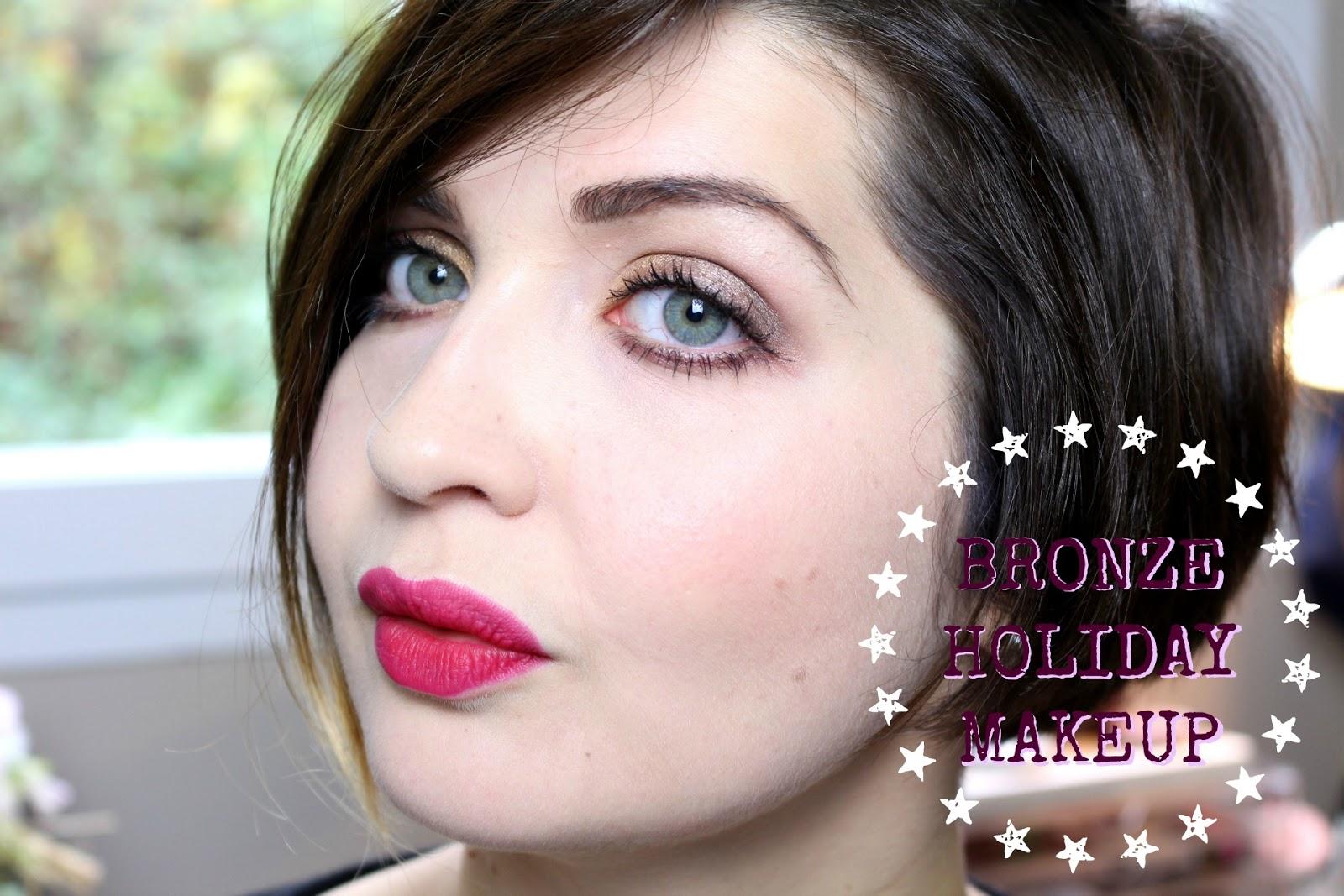 Bronze Holiday Makeup