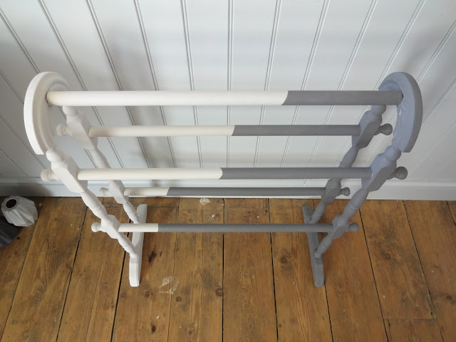 upcycled towel rail