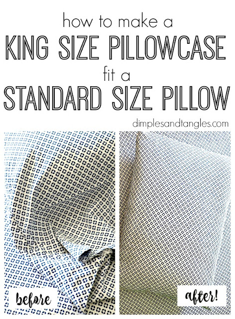 king size pillowcase, standard size pillow, bedding tips