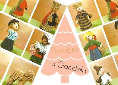Pesebre personajes del Belén con restos de lanas y cartulina