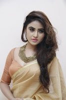 Sony Charishta in Saree Stills at Black Money Success Meet TollywoodBlog