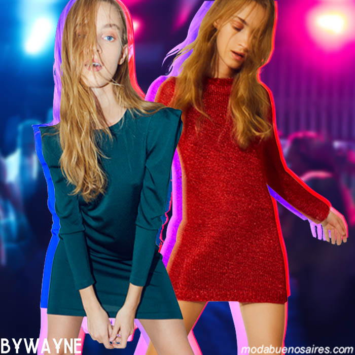 Looks de noche otoño invierno 2019 vestidos cortos. Moda otoño invierno 2019.