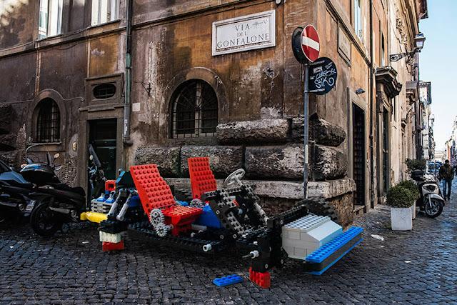 أعمال فنية ضخمة من مكعبات ليغو