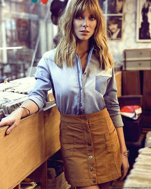 Tendencias de moda otoño invierno 2016 by Peuque: Looks años setenta, folk, boho y rock.