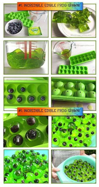 graphic chart of how to make edible frogspawn