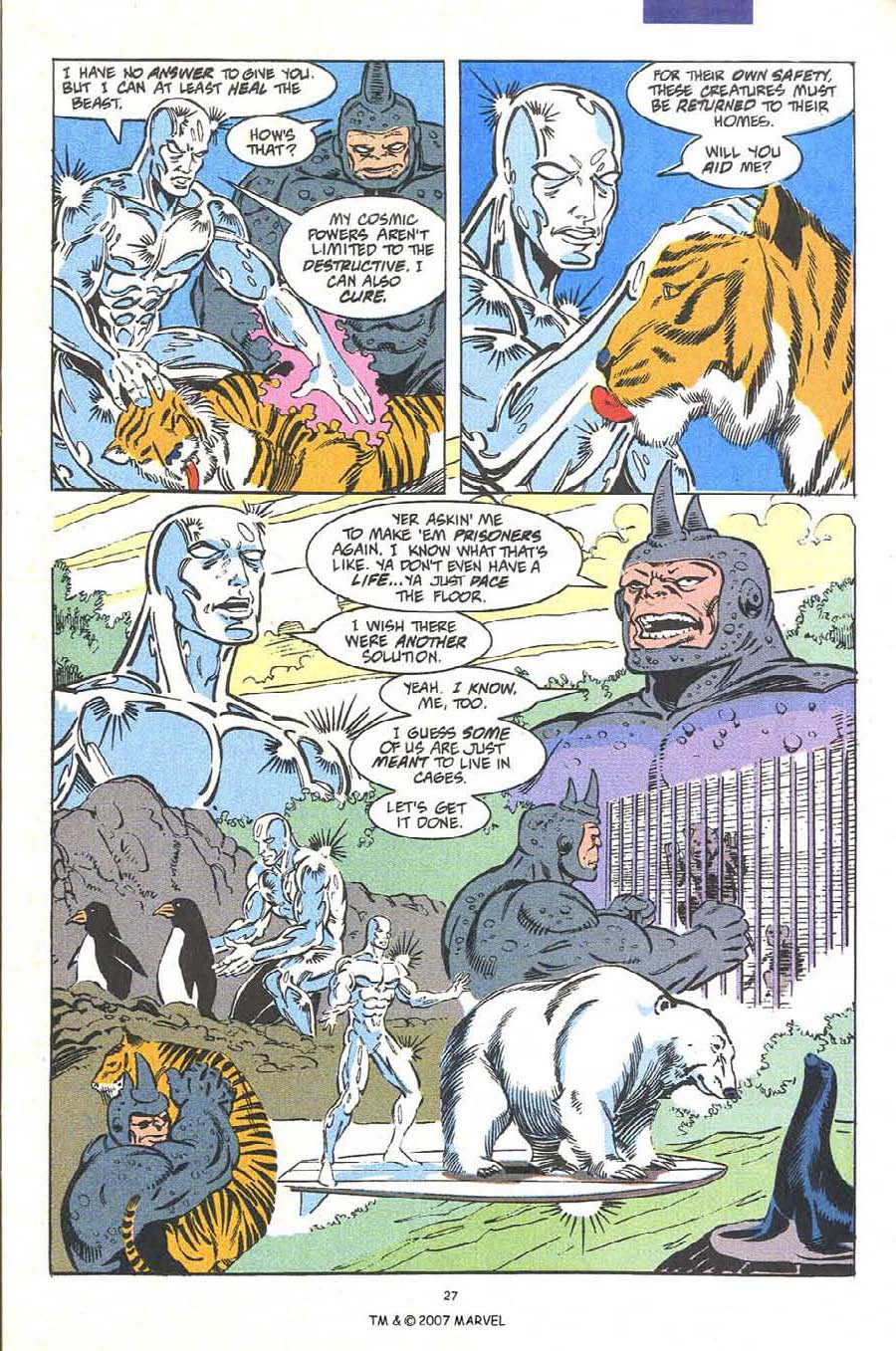 Read online Silver Surfer (1987) comic -  Issue #54 - 29