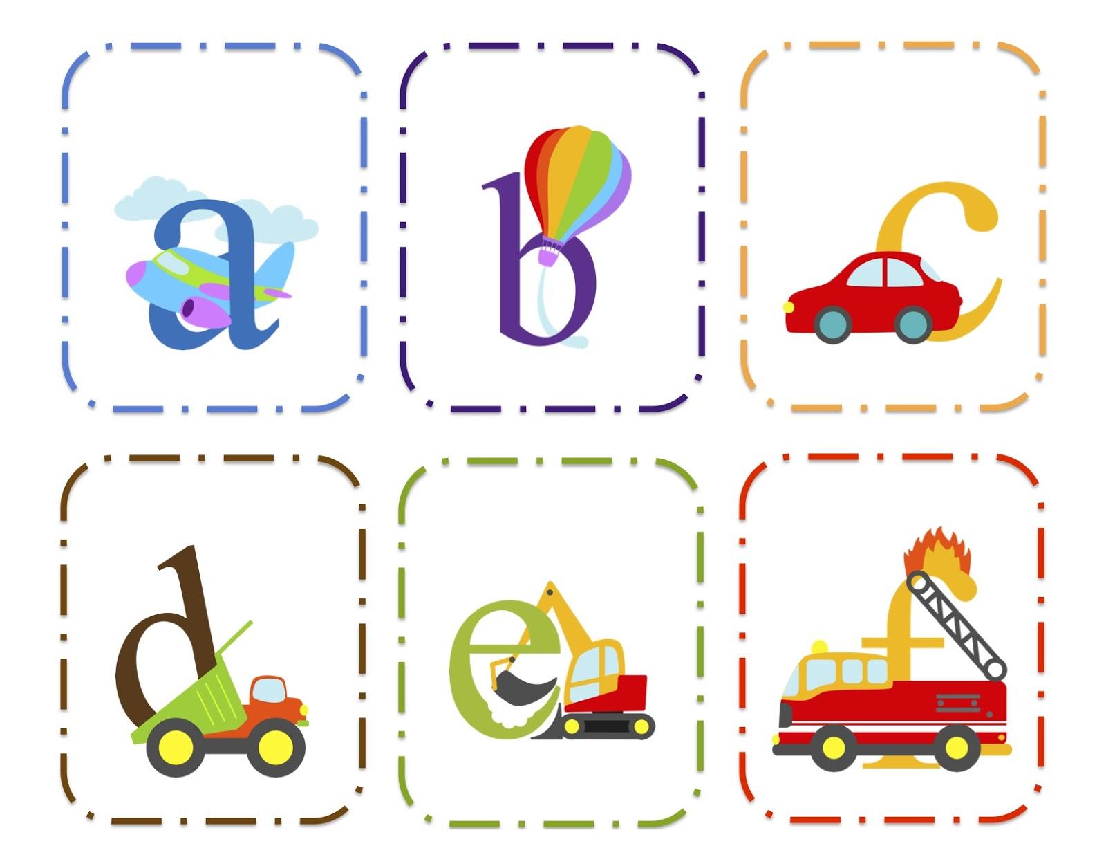 Transportation Alphabet Cards Upper Amp Lower Preschool Printables