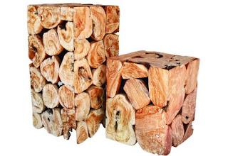 έπιπλα από φυσικό ξύλο