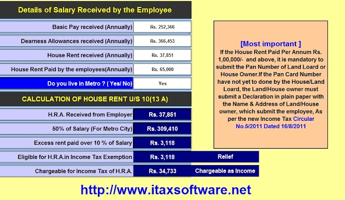 Download Automated Income tax Excel Based Software All in One TDS on Salary for Govt & Non-Govt Employees for F.Y. 2018-19 With how to claim Health Insurance under Section 80D from 2018-19