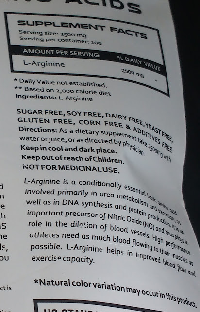 AS-IT-IS Nutrition L-Arginine Powder for Muscle Building