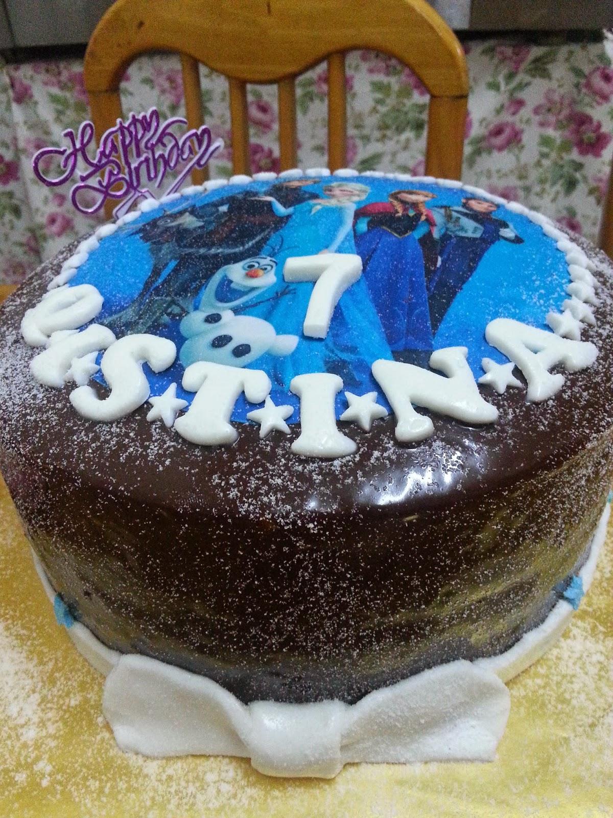 Zalinzalina Blogspot Com Kek Birthday Tema Frozen