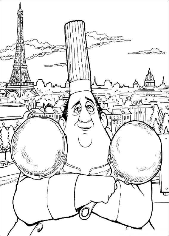 ratatouille coloring book pages - photo#27