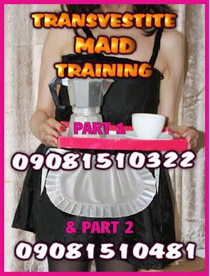 Sissy transvestite maid taught how to please Mistress