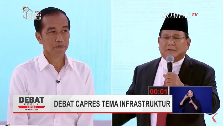 Jokowi - Prabowo debat Capres