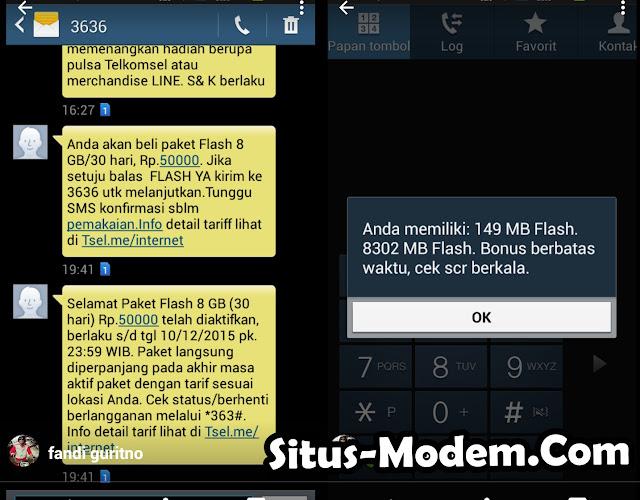 Baru !!! Promo Internet Telkomsel Flash 8 GB Cuma Rp 50 ribu Bisa dipakai 24 Jam  selama 30 Hari