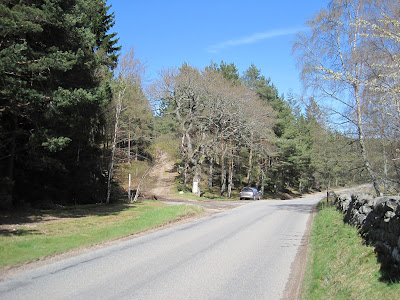 Lay by on Pass of Ballater, Deeside