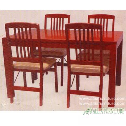 kursi meja makan kayu jati jari jari