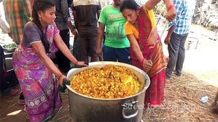 Amazing Cooking Aloo Fry Recipe Prepared 1000 People Hindu Function