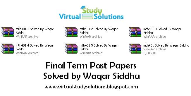 Past final term papers of vu