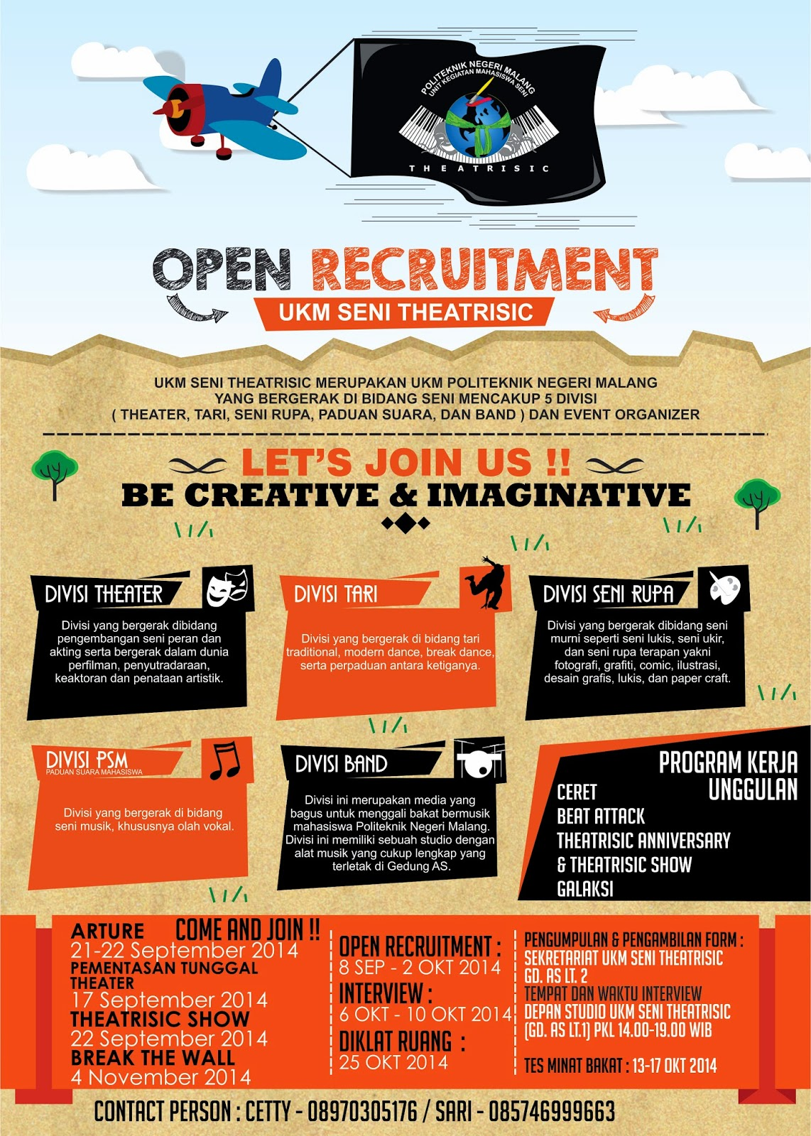 Open Recruitment Ukm Seni Theatrisic Seni Theatrisic