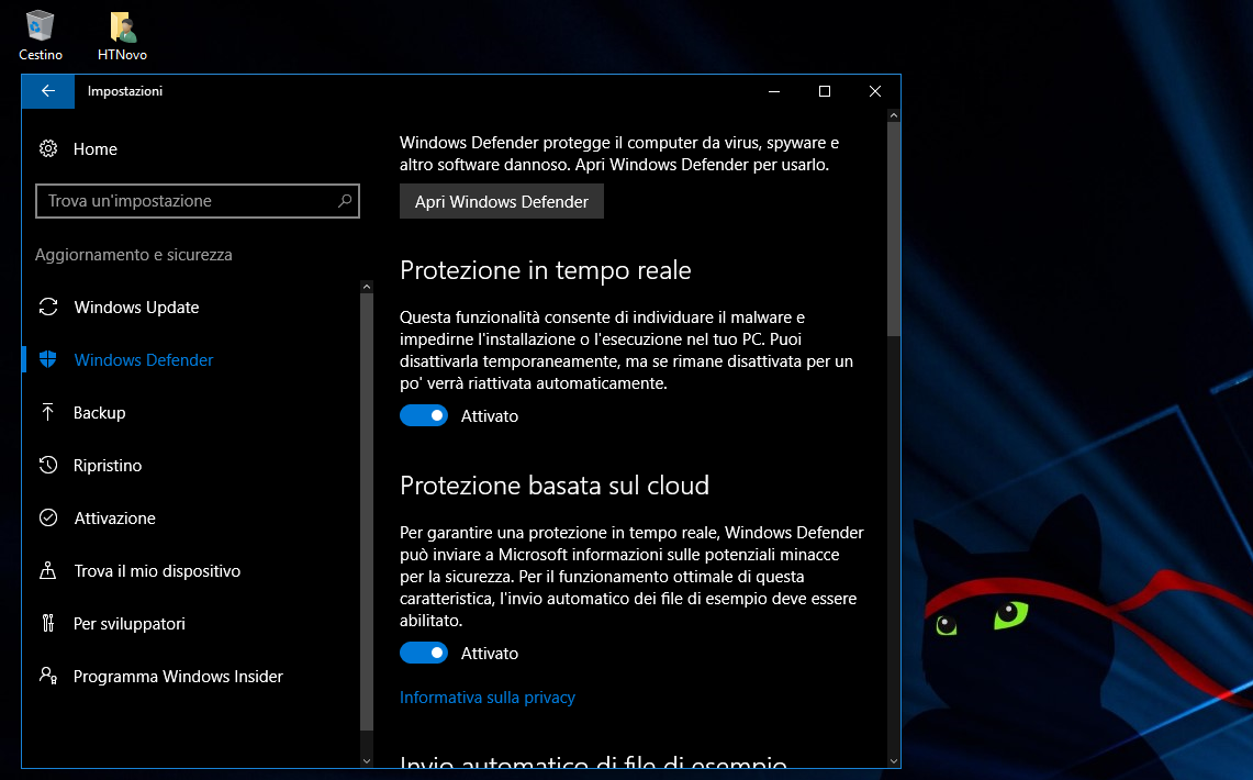 Windows 10 Redstone 2 avrà Windows Defender integrato in Microsoft Edge (video) HTNovo