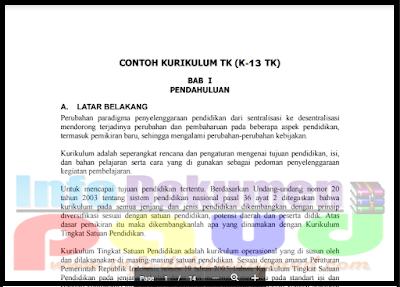 Contoh Dokumen 1 Kurikulum 2013 PAUD | TK | RA | KB | TPA 2018